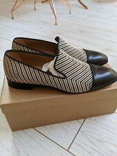 Christian Louboutin Dandelion Chevron Nero/Bianco Taglia 42 shoes 100% AUTENTICO