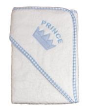 Baby HOODED TOWEL Prince towelling bathing boy