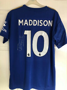 Original Signed Leicester City 2019-20 Shirt by James Maddison