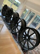 Set of Mclaren 12c / 650s Stealth Superlight 10 spoke alloy wheels.