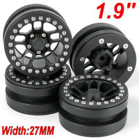 RC 1/10 Metal Beadlock 1.9'' Wheel Rims For RC4WD D90 AXIAL SCX10 CC01 TRX4 Car