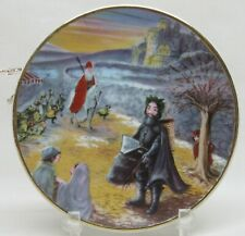 "1983 Duncan Royale History of Santa Claus Mini Plate ""Black Peter"" Xmas Ornament"