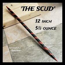 """THE SCUD"" RAZOR SHARP BLACK STEEL NINJA DOUBLE SPEAR TIP TORPEDO THROWING SPIKE"
