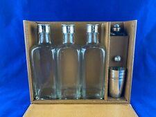 More details for vintage set of 3 cased spirit flasks cups silver plate motoring shooting hunting