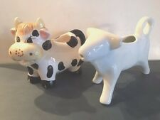 Two Ceramic Cow Creamers, Free Shipping