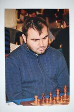 Gm Shakhriyar Mamedyarov signed foto autógrafo Autograph ip3 Grandmaster Chess