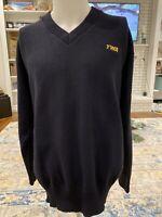 Vintage TWA Navy Blue Gold Sweater Uniform Pilot Flight Attendant Size XL
