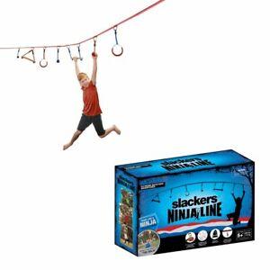 Badventure 30' Ninjaline Ninja Line Intro Kit with 7 Hanging Obstacles