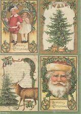 Carta di riso per Decoupage Decopatch Scrapbook Craft sheet vintage Buon Natale