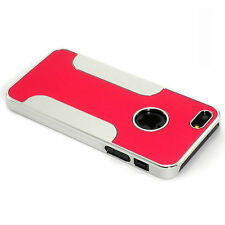 New Red Aluminum and Plastic Hybrid Hard Case For iPhone 5 5S SE