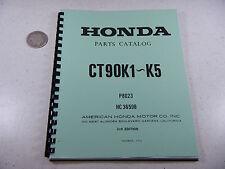 69-76 HONDA CT90 CT TRAIL 90 K1-K5 PARTS BOOK MANUAL