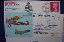 WW2 FIRST DAY COVER No19 SQD 25th Anni NATO Signed 4 Top MEMBERs SIR L  HODGES