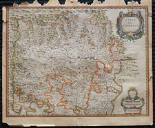 1641 original antique map Turino Turin Italy Piemonte