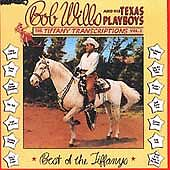 Tiffany Transcriptions Vol. 2 Bob Wills and His Texas Playboys Rhino CD 1987 OOP