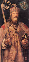 Dream-art Oil painting Albrecht Durer Male portrait Emperor Charlemagne canvas