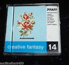Creative Fantasy 92-330 010/140  Machine Embroidery Card #14 Cross Stitch  PFAFF