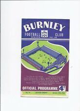 Burnley v Leyton Orient 27 January 1962 FA Cup 4th Round