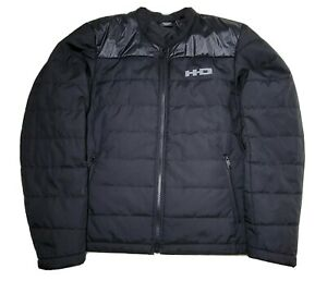 Men's HD HARLEY DAVIDSON 3M Thinsulate Quilted Insulated Jacket Black Size L