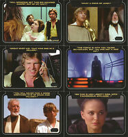 Star Wars Galactic Files Series 2 ~ CLASSIC LINES 10-Card Insert Set CL-1~CL-10