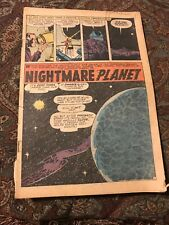 Nightmare Planet Comic? Vintage Rare