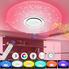RGB LED Deckenlampe mit Bluetooth Musik Lautsprecher Fernbedienung Dimmbar 60W