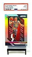 2018 Prizm SILVER REFRACTOR Hawks TRAE YOUNG Rookie Basketball Card PSA 9 MINT