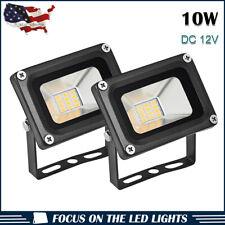 2x10W LED Warm White Flood Light Landscape Outdoor Garden Lamp DC 12V US Stock
