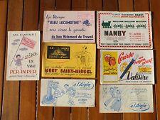 + Lot n°2 7 buvards vêtements (Mont saint Michel, Hutchinson...) +