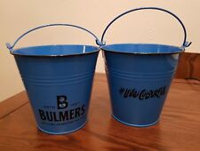 JOBLOT 20 X BULMERS WILD BLUEBERRY AND LIME METAL CONDIMENTS BUCKETS NEW