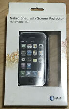 At & t Naked Shell with Screen Protector iPhone 3G Phone Case Clear