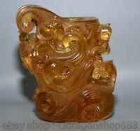 """4.4 """"Chine Vieux glaçure colorée Dynasty Palace  Beast Pot Vase en verre à vin"""