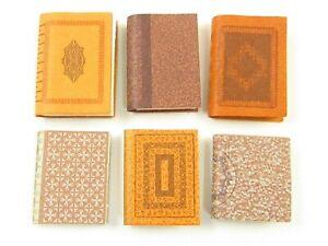 Miniature Library Books (6) For Dollhouse E369