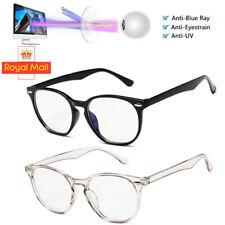 UK BLUE LIGHT BLOCKING Glasses Anti Glare Fatigue UV Filter Gaming Computer W