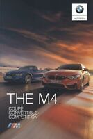 BMW M4 Coupe & Convertible Competition UK Market Brochure 2019-2020