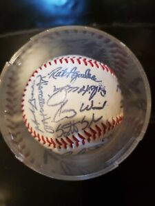 Signed Baseball 2000 Chicago Cubs