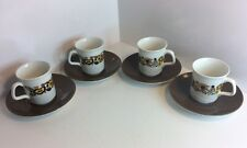 4 Vintage J&G Meakin Cup And Saucer Sets, Design By Alan Rogers c1968 (377)