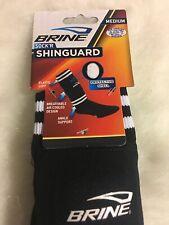 Brine Sock'R Shinguard Size Medium Air Cooled Design Black Sport Sock