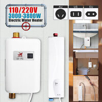 3.8KW Kitchen Electric Fast Heating Tankless Instant Hot Water Heater Bathroom