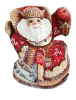 Bois sculpté Fait Main Le père Noel - Décoration de Noël Peint à la main Russie