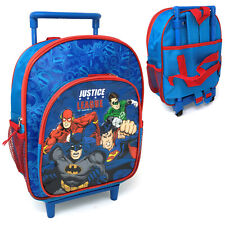 Batman Superman Toddlers 2yo-4yo Luggage Trolley Backpack Bag Suitcase On Wheels