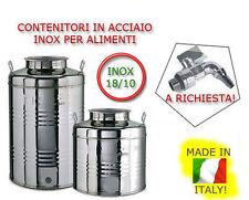 CONTENITORE FUSTO OLIO VINO INOX 18/10 LT100 PREDISPOSIZIONE PER RUBINETTO 22427