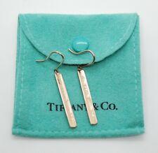 Tiffany & Co Rubedo Metal Bar Dangle Earrings - RARE