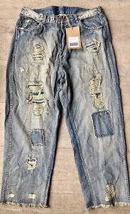 NWT Magnolia Pearl Miner Distressed Cotton Denim Jeans