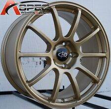 ROTA G-FORCE 18X8.5 +48 5X114.3 GOLD WHEEL FIT ECLIPSE GALANT LANCER CIVIC 5X4.5