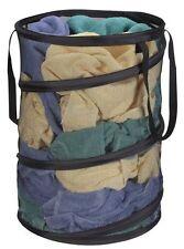 Pop - Up Mesh Hamper, Laundry Basket, Storage, Black by Household Essentials NEW