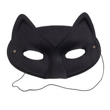 Black Cat Costume Eye Mask: 7 x 6 inches w/ Elastic - Masquerade, Theater, Play
