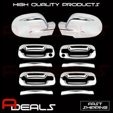 FOR CADILLAC ESCALADE 02-06 CHROME MIRROR COVER, DOOR HANDLE COVER (W/ PSKH)