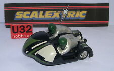 SCALEXTRIC C282 MOTORCYCLE SIDE GREEN COMBINATION EXCELLENT CONDITION UNBOXED