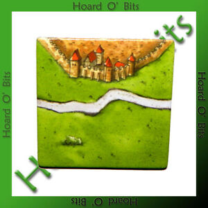 CARCASSONNE BITS - STARTING TILE (INVERSED BACK) - Rio Grand Games
