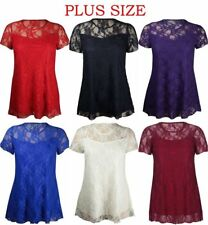 Unbranded Plus Size Semi Fitted Floral Women's Tops & Shirts